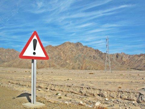 エジプトダハブの砂漠と山