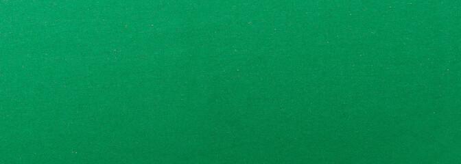 Green felt textile texture background, banner, closeup view