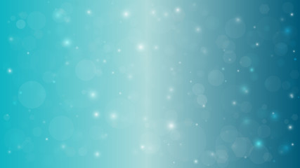Abstract blurred vector background with light glare. Bokeh and glowing particles. Lighting effects of flash.