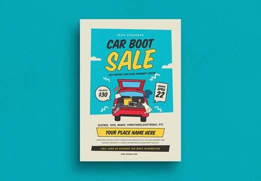 Trunk Sale Poster Layout