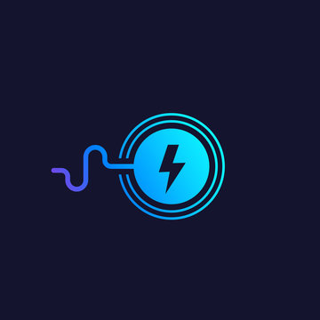 wireless charging station vector icon
