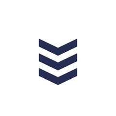 Military rank, chevron vector