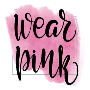 lettering wear pink