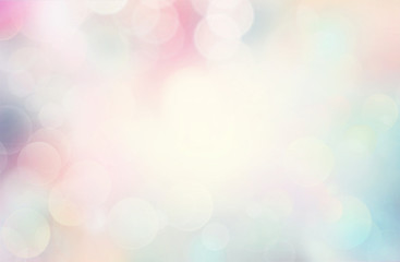 Wall Mural - Abstract pink background with bokeh