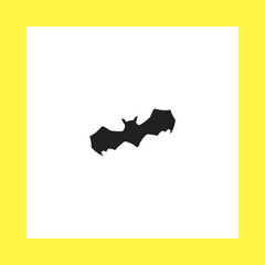 bat vector icon. flat design
