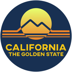 california: the golden state | digital badge