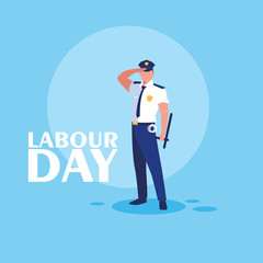 labour day celebration with police