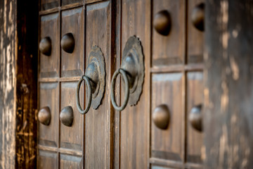 Architecture details of Chinese historic building