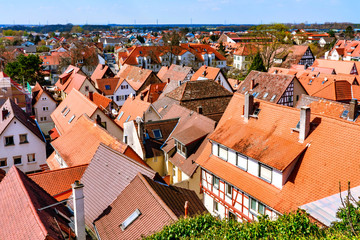 Cityscape of Zwingenberg on the Bergstrasse, Germany