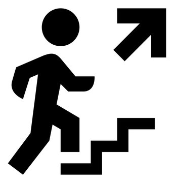 Person Walking Up Steps Icon