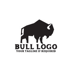 Bull logo icon design vector template