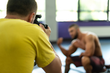 Photographer Takes Pictures of a Bodybuilder