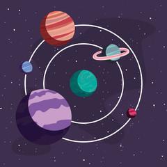 system solar planet