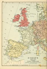 Fototapete - Old map. Engraving image 1600-1714