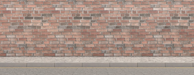 Pavement Street And Wall Backdrop