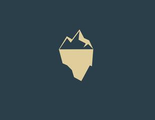 Creative logo iceberg icon for business company