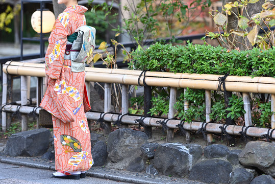 祇園の着物美人