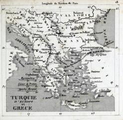 Old map. Engraving image