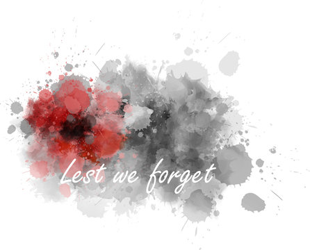 Lest we forget - abstract poppy