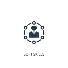 Soft skills icon. Simple element illustration. Soft skills concept symbol design. Can be used for web and mobile.