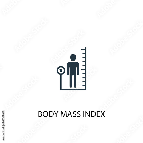 body mass index icon  Simple element illustration  body mass