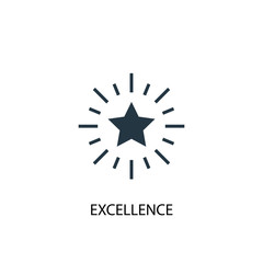 excellence icon. Simple element illustration. excellence concept symbol design. Can be used for web and mobile.