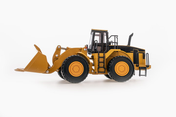 Wheel loader isolated a on white background