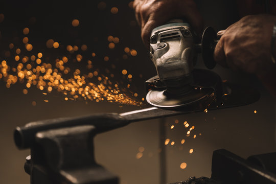blacksmith and welder at work