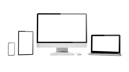 Wall Mural - responsive devices isolated
