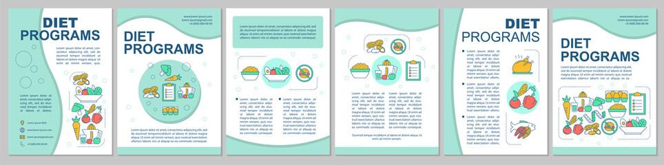 Healthy nutrition brochure template layout Papier Peint