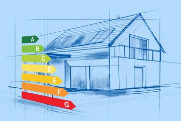 Fototapeta Ocena energetyczna domu obraz