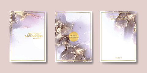 the big set of liquid marble with gold. flyer, business card, flyer, brochure, poster, for printing. trend vector