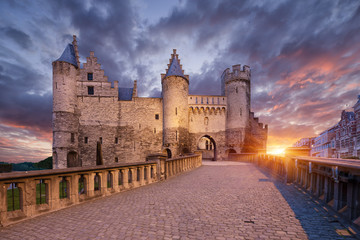 Wall Mural - Het Steen, Castle in Antwerp, Belgium.