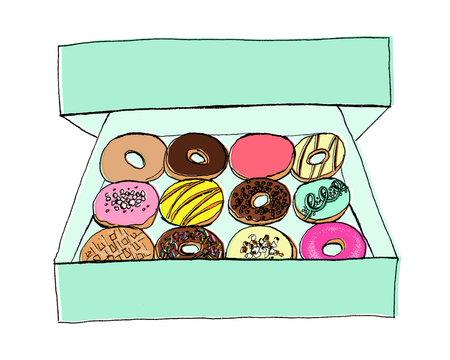 Rainbow Doughnut Dozen