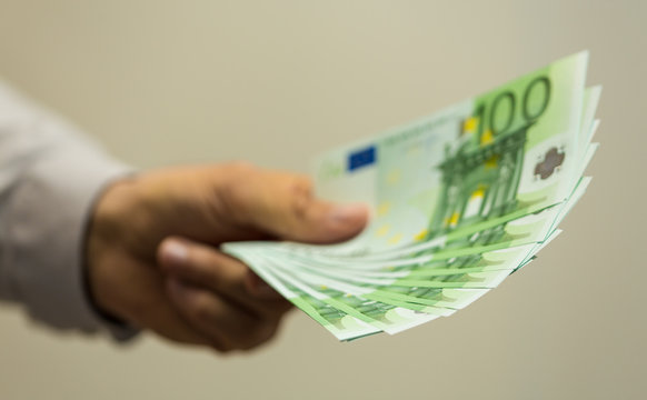 finance  money - Banknotes of the  european  union.