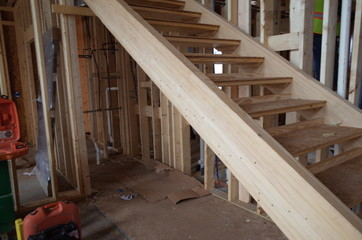 staircase in a building under construction