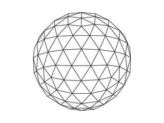 Fototapeta Geodesic sphere line illustration vector