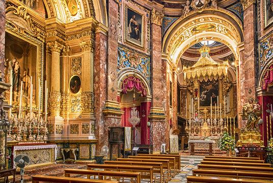 Interior of The Chapel of St. Roque - Mdina, Malta