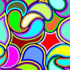 In de dag Draw Abstract Art Deco Vector Seamless Pattern Design