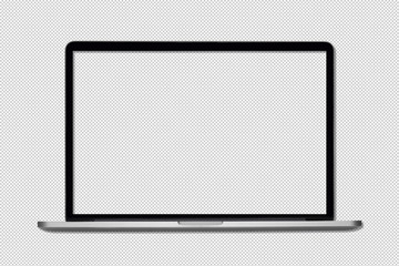 Isolated Laptop or notebook with clipping path , Computer display with blank screen on a transparent background