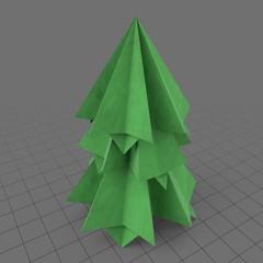Origami short pine tree