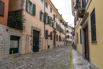 The street in Udine's old town, Italy