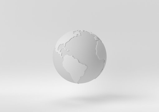 Creative minimal paper idea. Concept white world with white background. 3d render, 3d illustration.