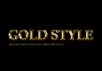 Golden Text Style smart layer photoshop mockup