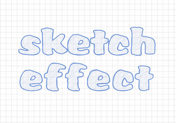 Sketch Style Text and Design Layout