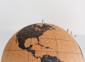 Globe. Travel concept.
