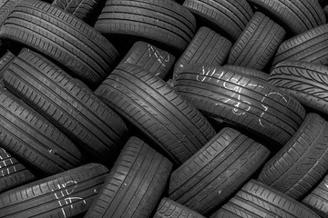 used tyres Wall mural