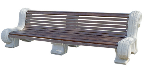 Park Bench Isolated on White