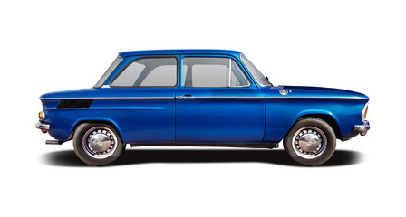 Papiers peints Vintage voitures Classic German sport sedan car isolated on white