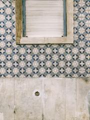 Lisbon Tiled Facade Closeup